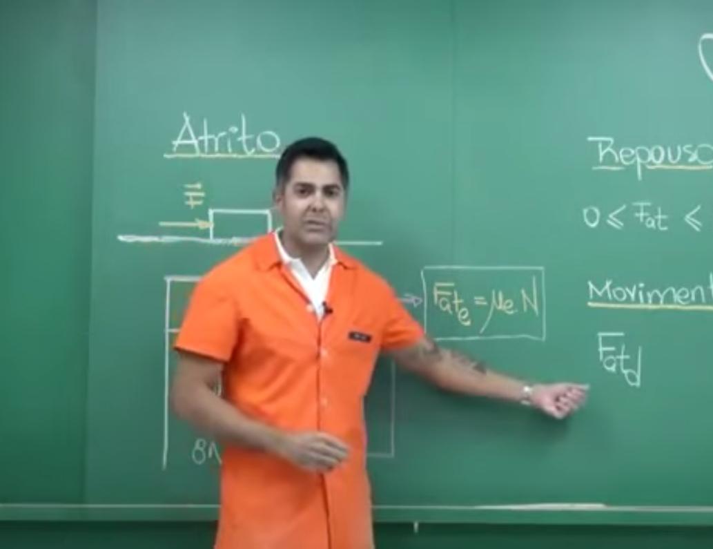 Aula em vídeo – Força de Atrito