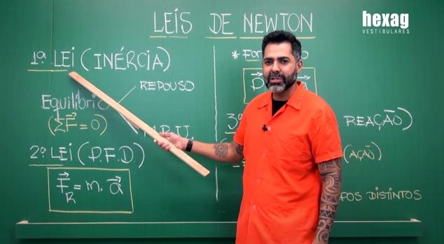 Aula em vídeo – Leis de Newton (Princípios da Dinâmica)