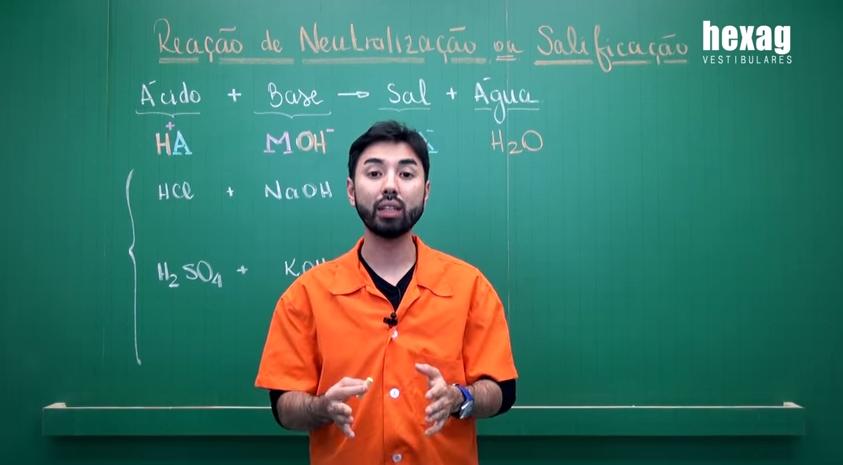 Videoaula – Reação de Neutralização ou Salificação