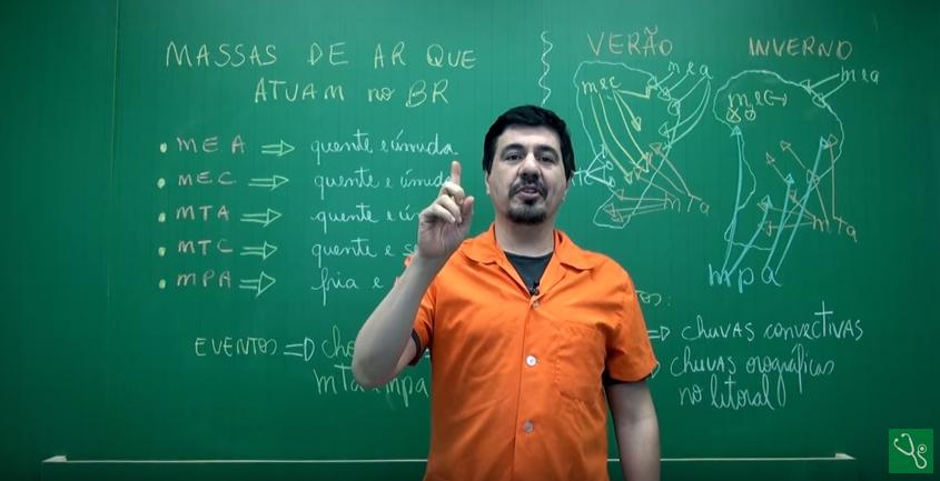 Aula em vídeo – Massas de Ar que Atuam no Brasil