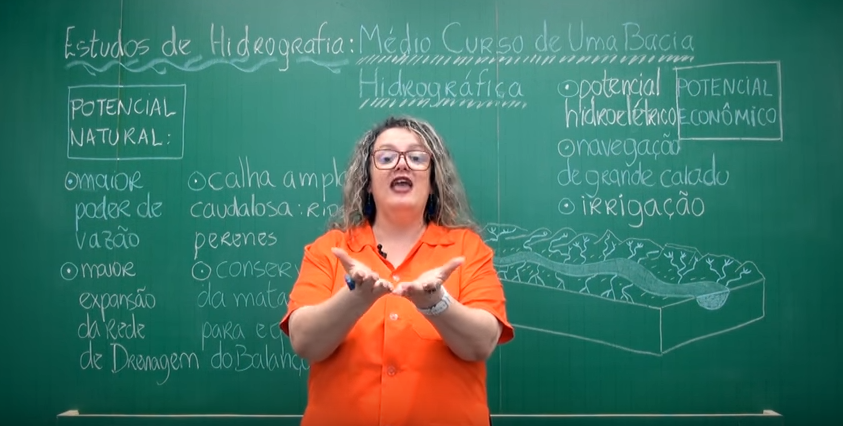 Aula em vídeo – Médio Curso de uma Bacia Hidrográfica