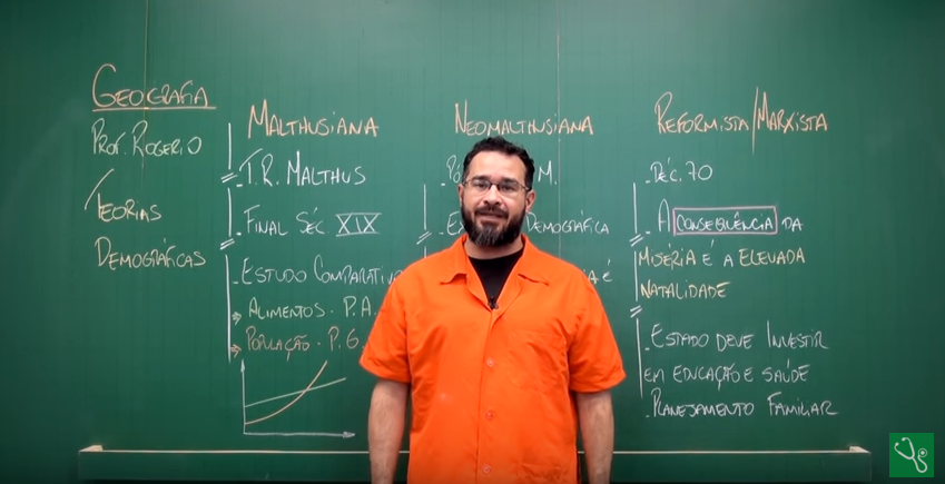 Aula em vídeo – Teorias Demográficas