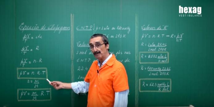 Aula em vídeo – Equação de Clapeyron