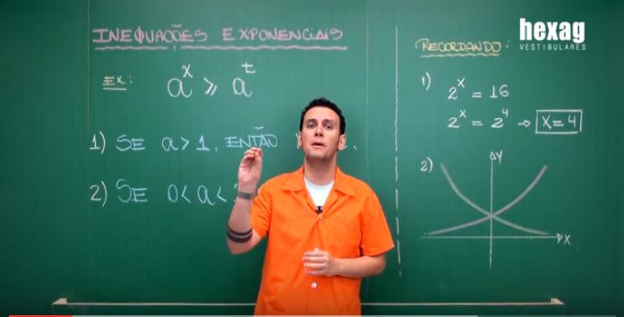Aula em vídeo – Inequações Exponenciais