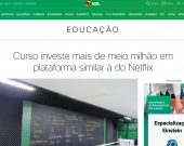 Curso investe mais de meio milhão em plataforma similar à do Netflix